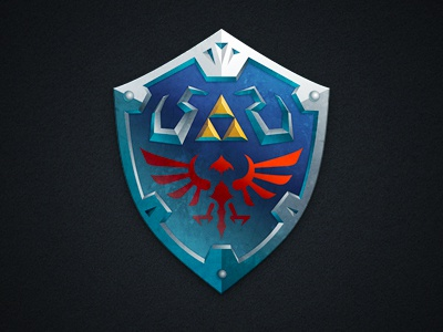 Hylian Shield triforce legend of zelda link zelda hyrule hylian shield metal