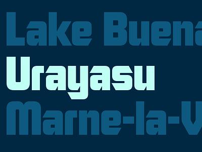 Urayasu blocky bold japan japanese 80s font industrial urayasu