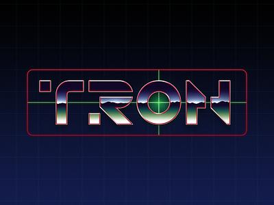 TRON 80s chrome disney tron legacy font legacy tron