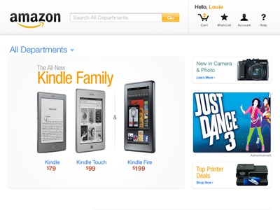 Amazon.com amazon white web