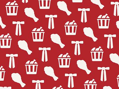KFC Pattern kfc fried chicken finger lickin good colonel sanders
