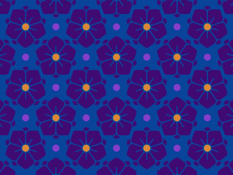 Hana kaon pattern flower hana