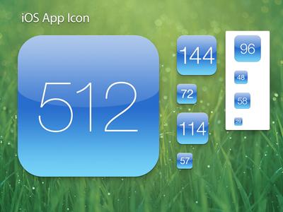 iOS App Icon Template retina ipad iphone ios icon icons