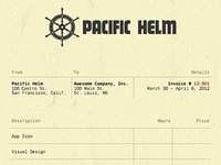 Pacific Helm Invoice