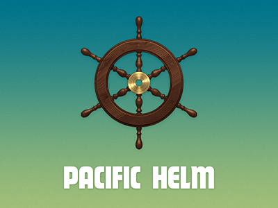 Helm pacific helm nautical ocean steering wheel