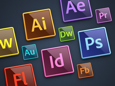 Adobe Creative Suite Icons adobe creative suite icons after effects premiere dreamweaver photoshop illustrator indesign flash builder audition fireworks speed grade