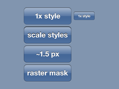 @2x 2x ui buttons iphone style photoshop layer