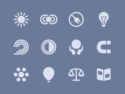 MOVA Icons symbols glyphs icons mova