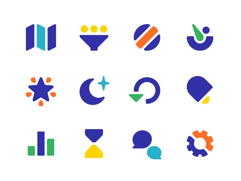 Circle Icons symbols glyphs icons circle