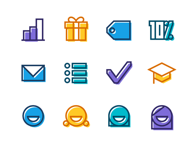 CollegeBacker Icons glyphs icons collegebacker
