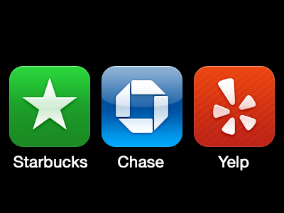 Simple Icons simple ios icon app chase starbucks yelp