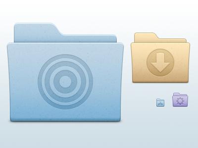De Anza Folders osx folders folder beige blue system set icons icon