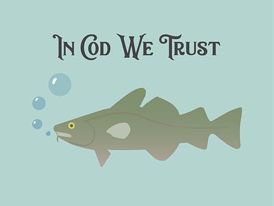 Logo for 'In Cod We Trust' daily logo challenge logo design dailylogochallenge