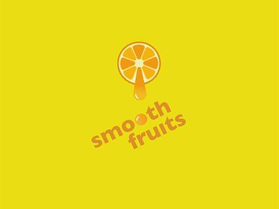 Logo for fruit juice company: Smooth Fruits smooth fruits daily logo challenge logo dailylogochallenge design