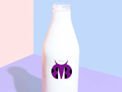 Night milk. ikon graphicdesign branding logo milk