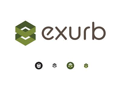 Exurb logo affinity designer branding logo design