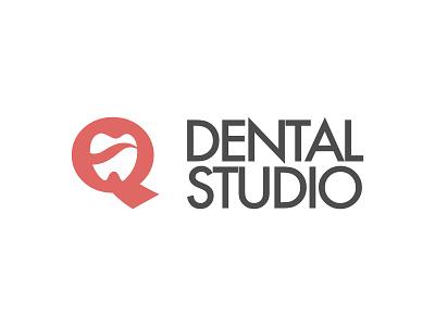 Q dental studio logo logo design branding affinity designer