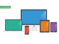Flat Apple Devices - Mockup