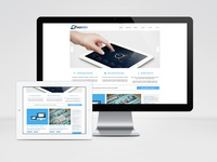 Clean webdesign for a Drupal template