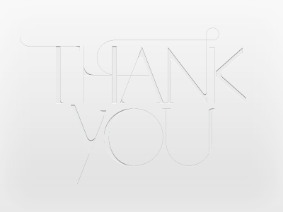 Thanks typography subtle thank-you greyscale