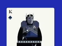 Jon Snow as the King of Spades