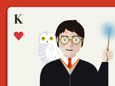 Harry Potter as the King of Hearts