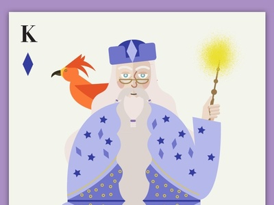 Dumbledore as the king of Diamonds