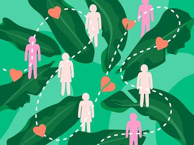 Take Stock of Your Relationships design email header illustration