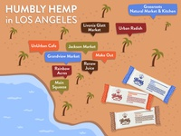 Humbly Hemp: Illustrated Stockist Map