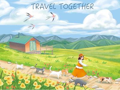 For on outing spring childrens book illustration illustration
