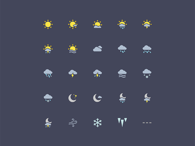 Weather Icons cloud moon sun icons icon set weather