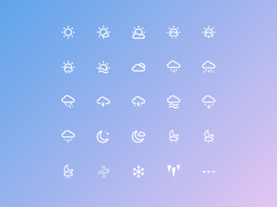 Weather Icons vector illustrator icons weather icon set stroke