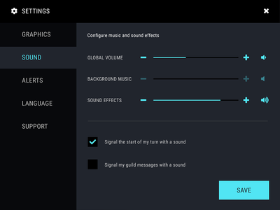 Daily UI #007 Settings save settings sound volume daily ui