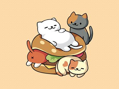 Neko Atsume tubbs burger cat kitty atsume neko