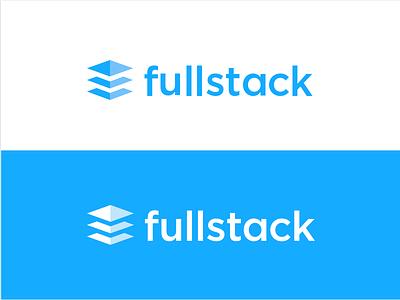 Fullstack Logo saas html css javascript logo technology education fullstack branding