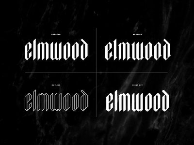 4 Styles Of Elmwood display spur monoline outline 8 bit eight-bit typography design graphic textura blackletter fonts font vintage font vintage