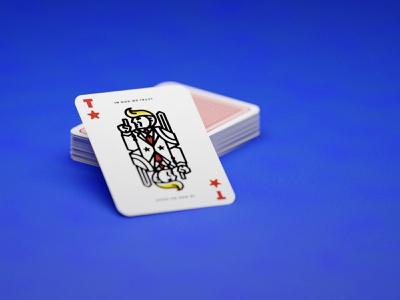 Rendered Trump Card clean render poker playing cards modern bold retro card product design illustration monoline mono trump