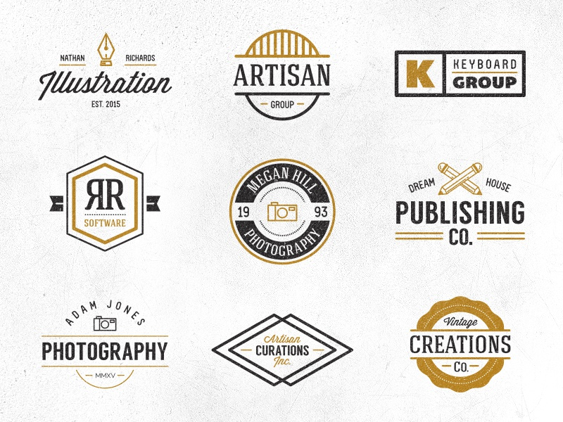 hipster logo pack by sean coady dribbble dribbble