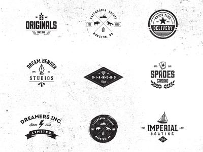 Vintage Badge/Logo Pack by Sean Coady - Dribbble