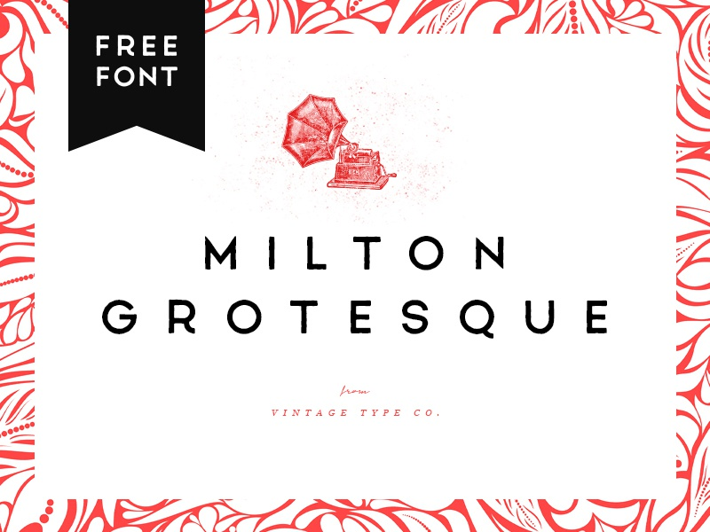 Milton Grotesque FREE Font by Sean Coady on Dribbble