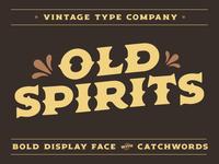 Old Spirits Display Font