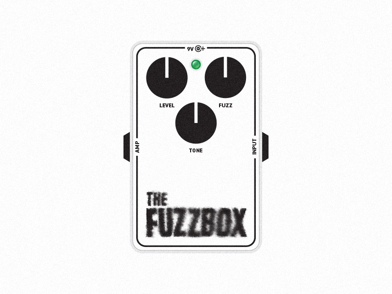 The Fuzzbox Guitar Pedal typography label packaging package music design graphic pedal guitar