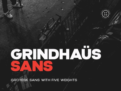 Grindhaus Sans display grindhaus heavy bold black family gothic grotesque sans font vintage grotesk