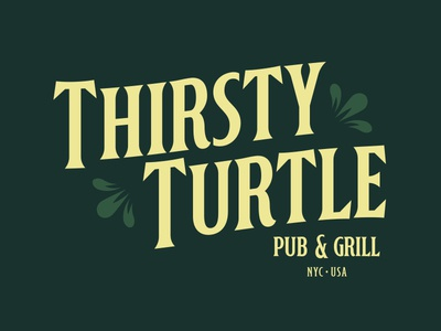Thirsty Turtle Pub vintage typography typeface type old modern minimal lettering horoscope fonts font dark clean