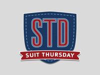 Suit Thursday Logo Concept