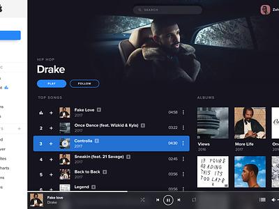 Color combination experiment redesign radio player os x music itunes fullscreen desktop apple app