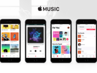 Apple music user interface user experience ui ux sketch psd download 2