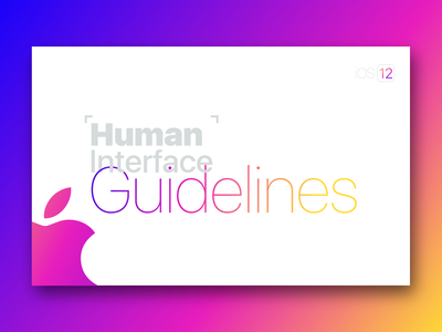 Apple Human Interface Guideline [white Theme]