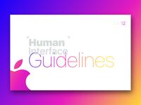 Apple Human Interface Guideline [white Theme]