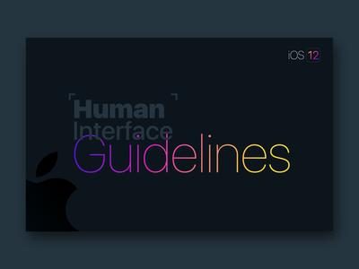 Apple Human Interface Guideline [Black Theme]